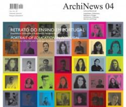 ArchiNews 04 edição especial Retrato do ensino em Portugal