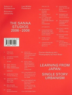 The Sanaa Studios 2006-2008 Learning from Japan: single story urbanism