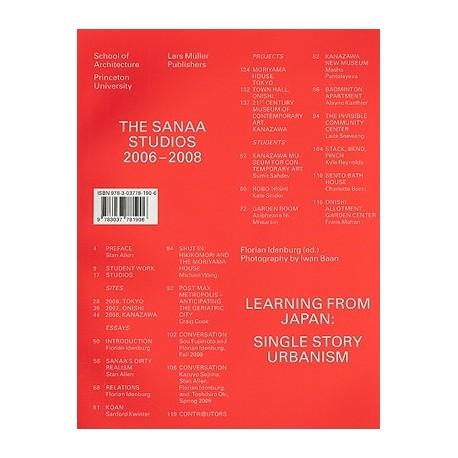 The Sanaa Studios 2006-2008 Learning from Japan: single story urbanism