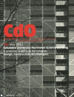 CDO 03 Cadernos d'Obra Maio 2011 Columbia University Northwest Science Building