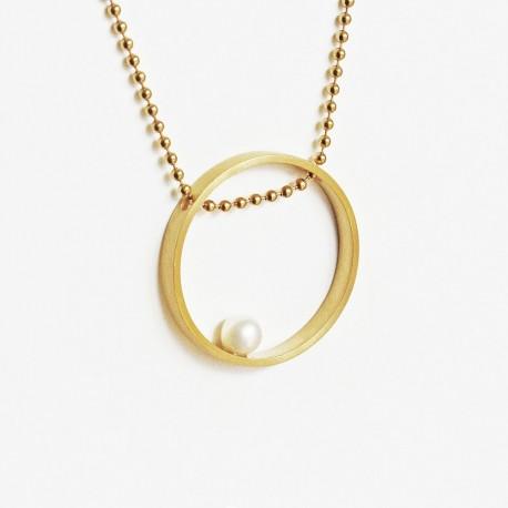 Colar ABBRACCIO prata 925 plaqueado a ouro gold plated necklace