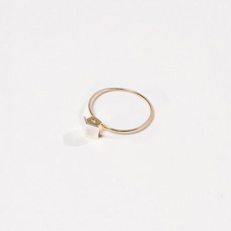 Anel CASA prata plaqueada ouro 925 silver ring