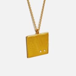 Colar IOETE prata 925 plaqueado a ouro gold plated necklace