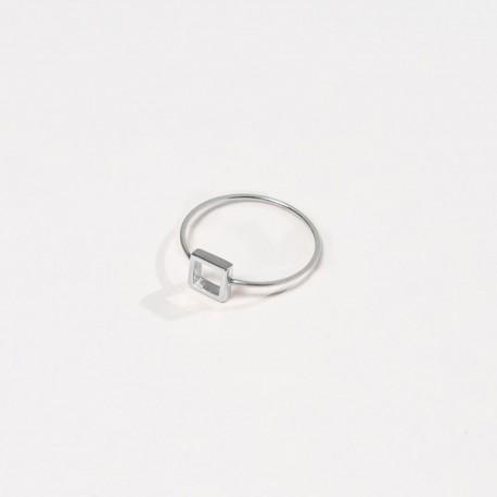 Anel QUADRATO Prata 925 silver ring