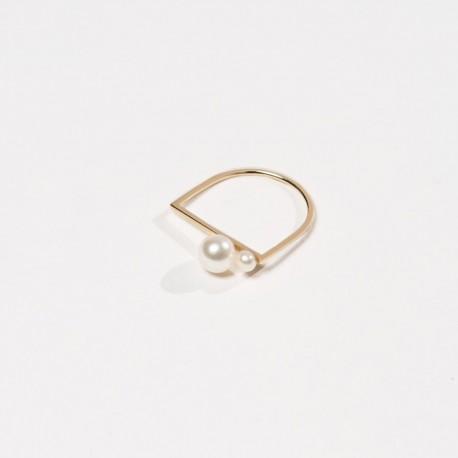 Anel SEMI Prata 925 silver ring