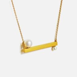 Colar SOFROSINI prata 925 plaqueado a ouro gold plated necklace