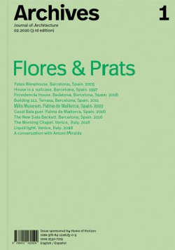 Archives 1 Journal of Architecture 02.2020  3rd edition  Flores & Prats